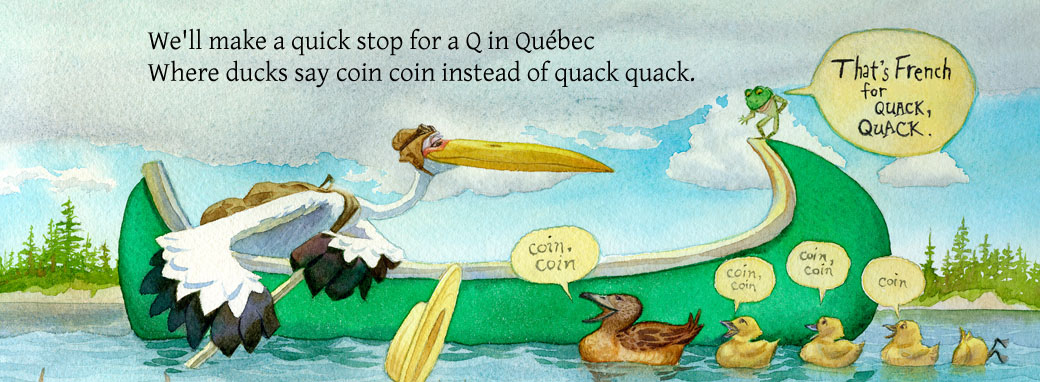 Finding Featherbottom page with quacking ducks in Quebec