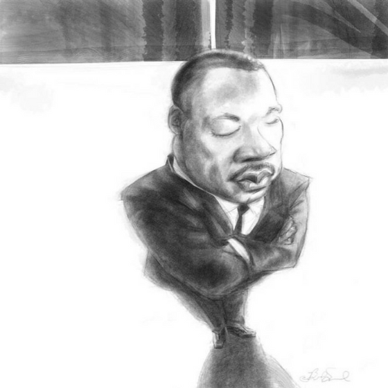 Martin Luther Ling Jr. | Illustration by Brad Sneed