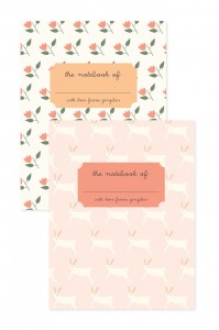 FlowerBunniesNotebooksProductPhoto
