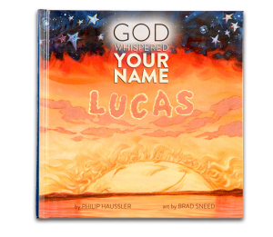 God Whispered Your Name personalized book