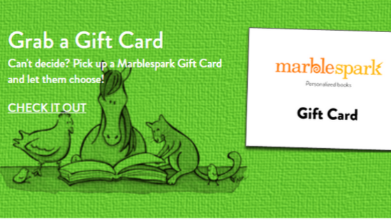 Personalized Book Gift Card
